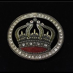 Crown Belt Buckle.